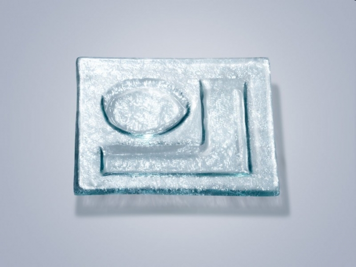 Стеклянная тарелка ND 504