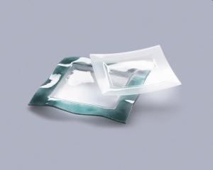 Тарелка Axum Wavy :: Стеклянная тарелка Wavy