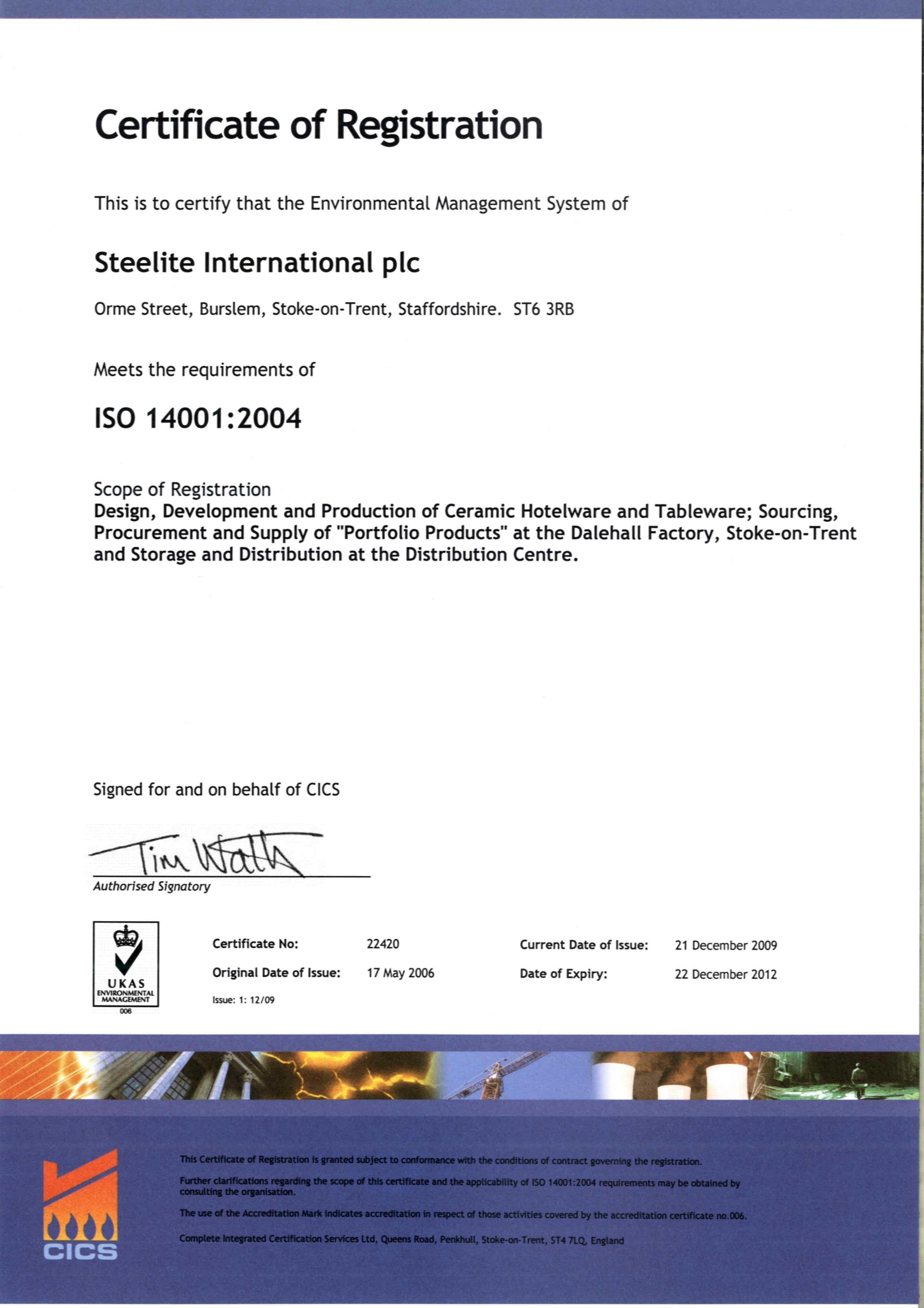 сертификат посуду для ресторана